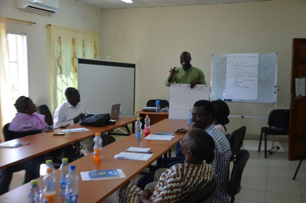 Journalists for Human Rights Media Trainer training students